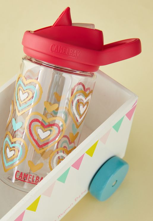 Eddy Hearts Water Bottle - 415ML