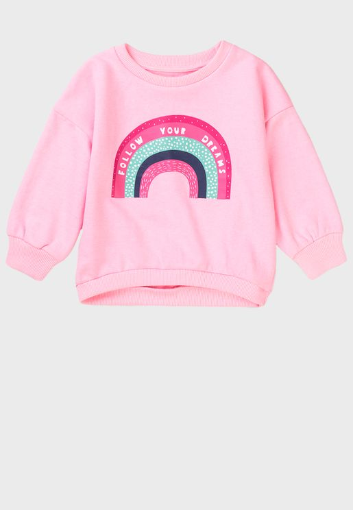 Infant Rainbow Basic Crew Sweater