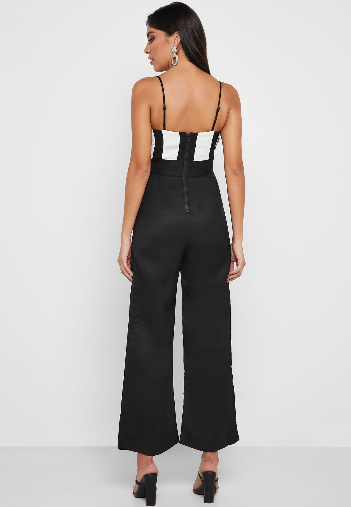 Striped Cut Out Jumpsuit