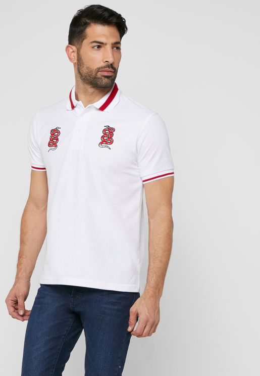 Snake Embroidery Polo