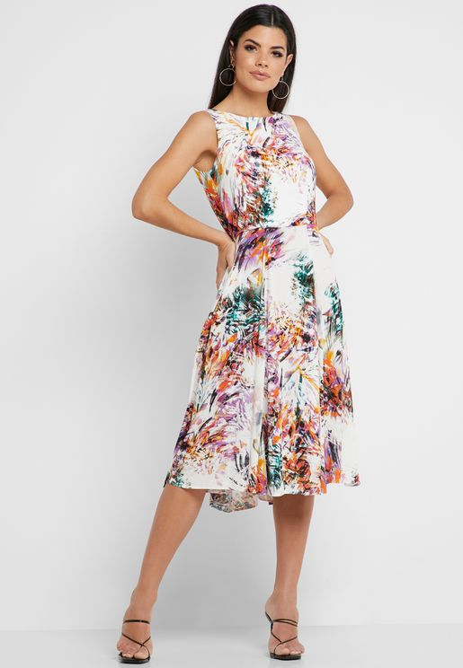 5fdf9091e40 Floral Print Sleeveless Dress