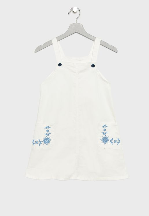 Kids Embroidered Dungaree