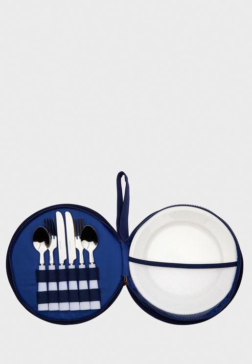 طقم ادوات طعام للنزهات