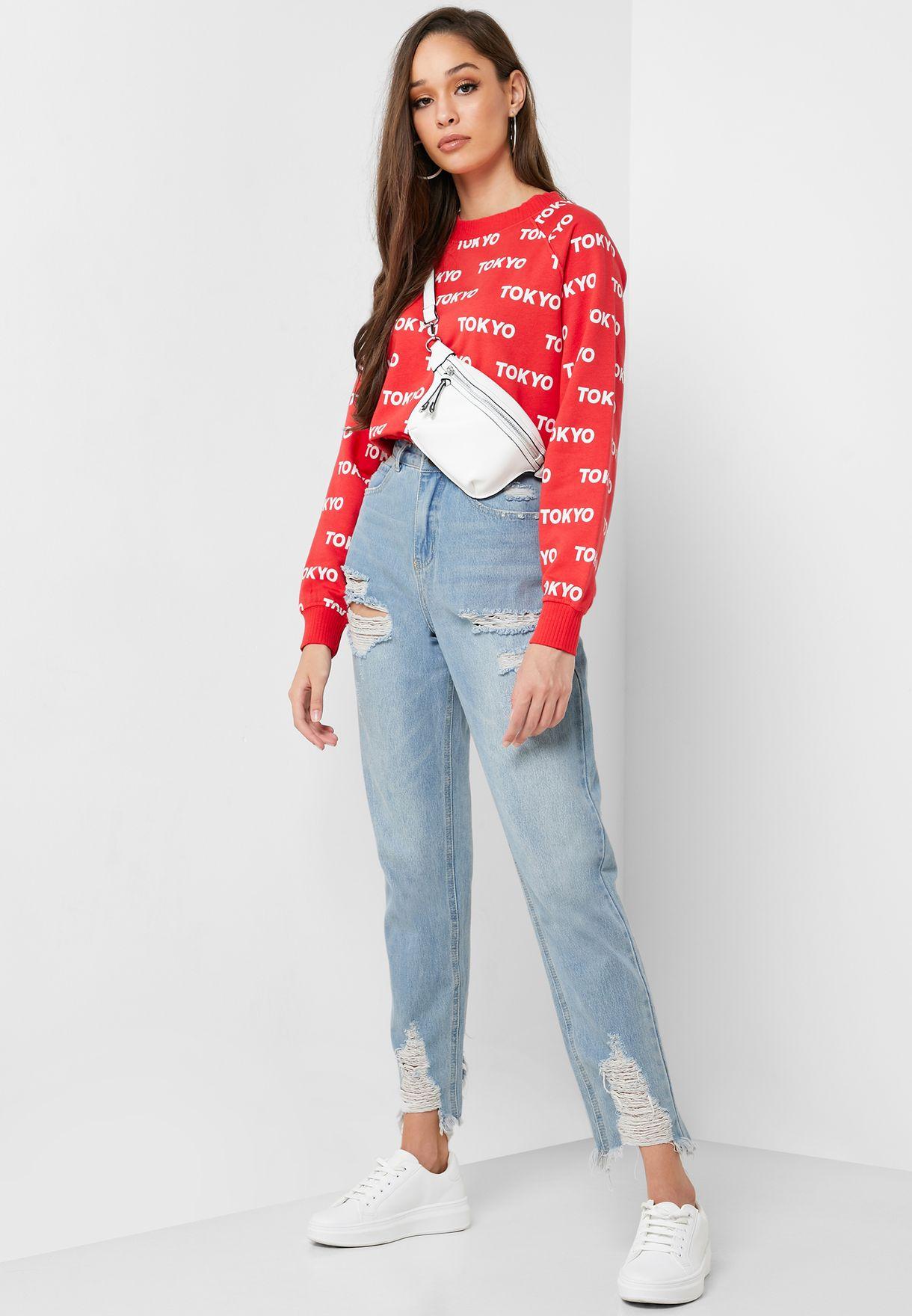 Overall Printed Sweatshirt