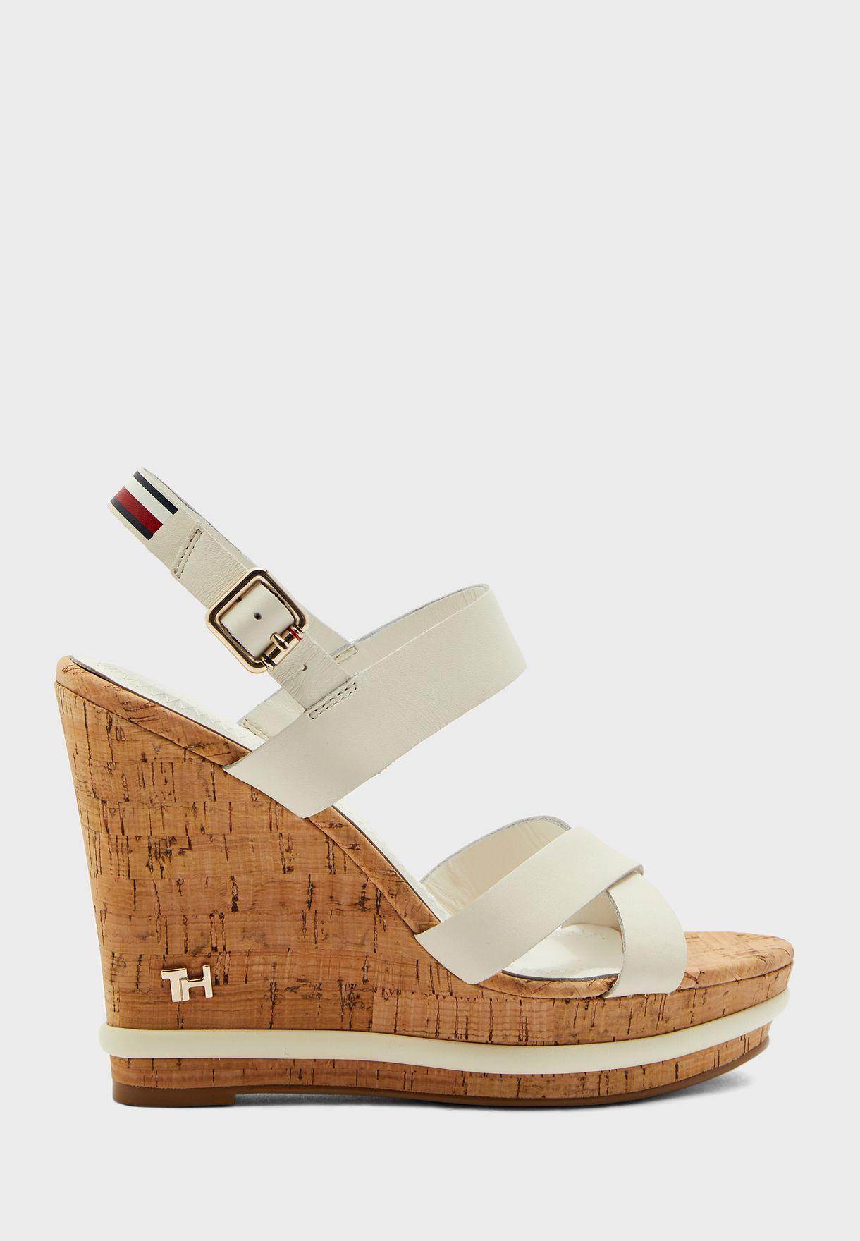 Corporate Leather  Wedge Sandal - YBI