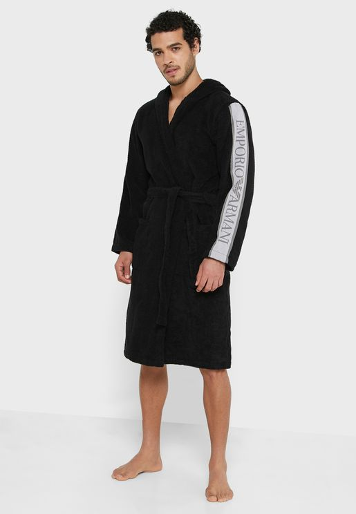 Logo Sleeve Robe