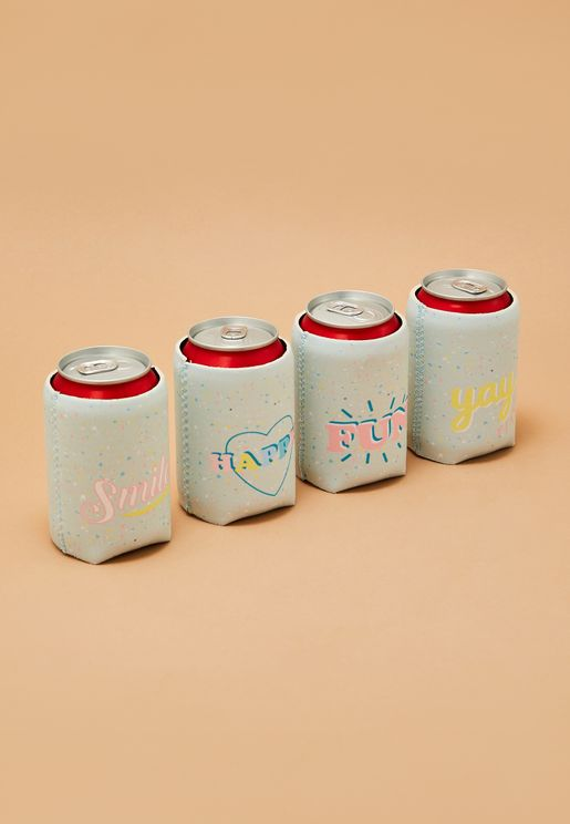 4 Pack Slogan Can Holder