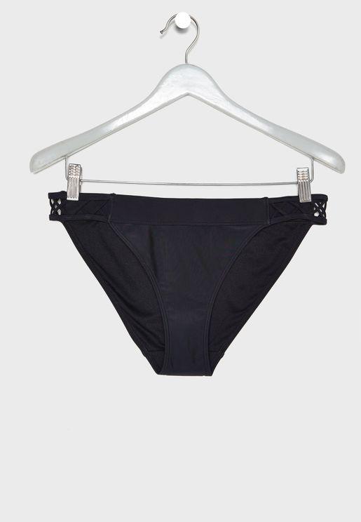 Side Strappy Bikini Bottom
