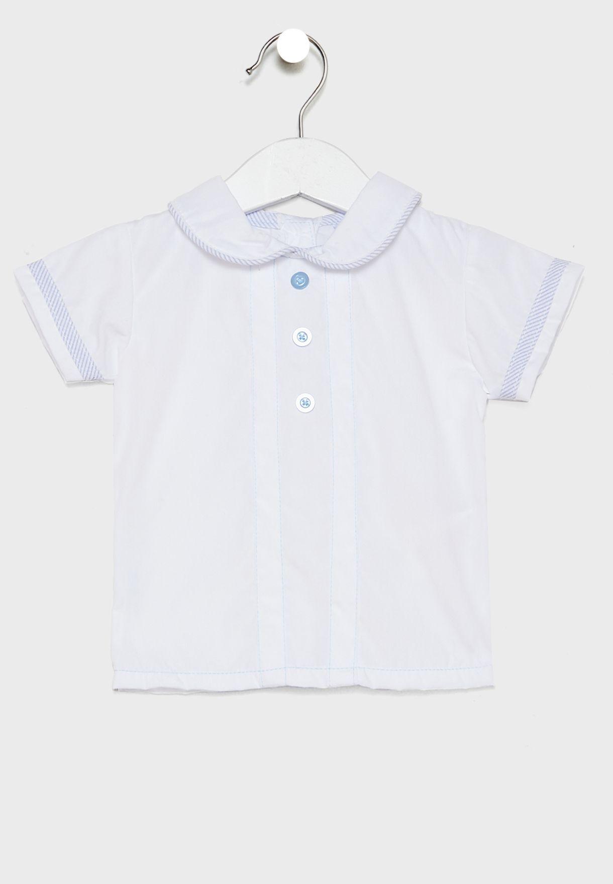 طقم (قميص بازرار + شورت)