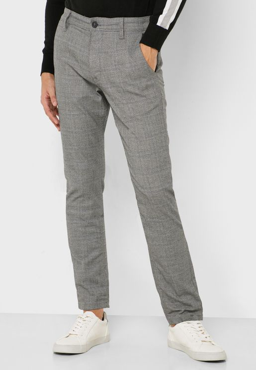 Storm Flex Checked Slim Fit Trousers