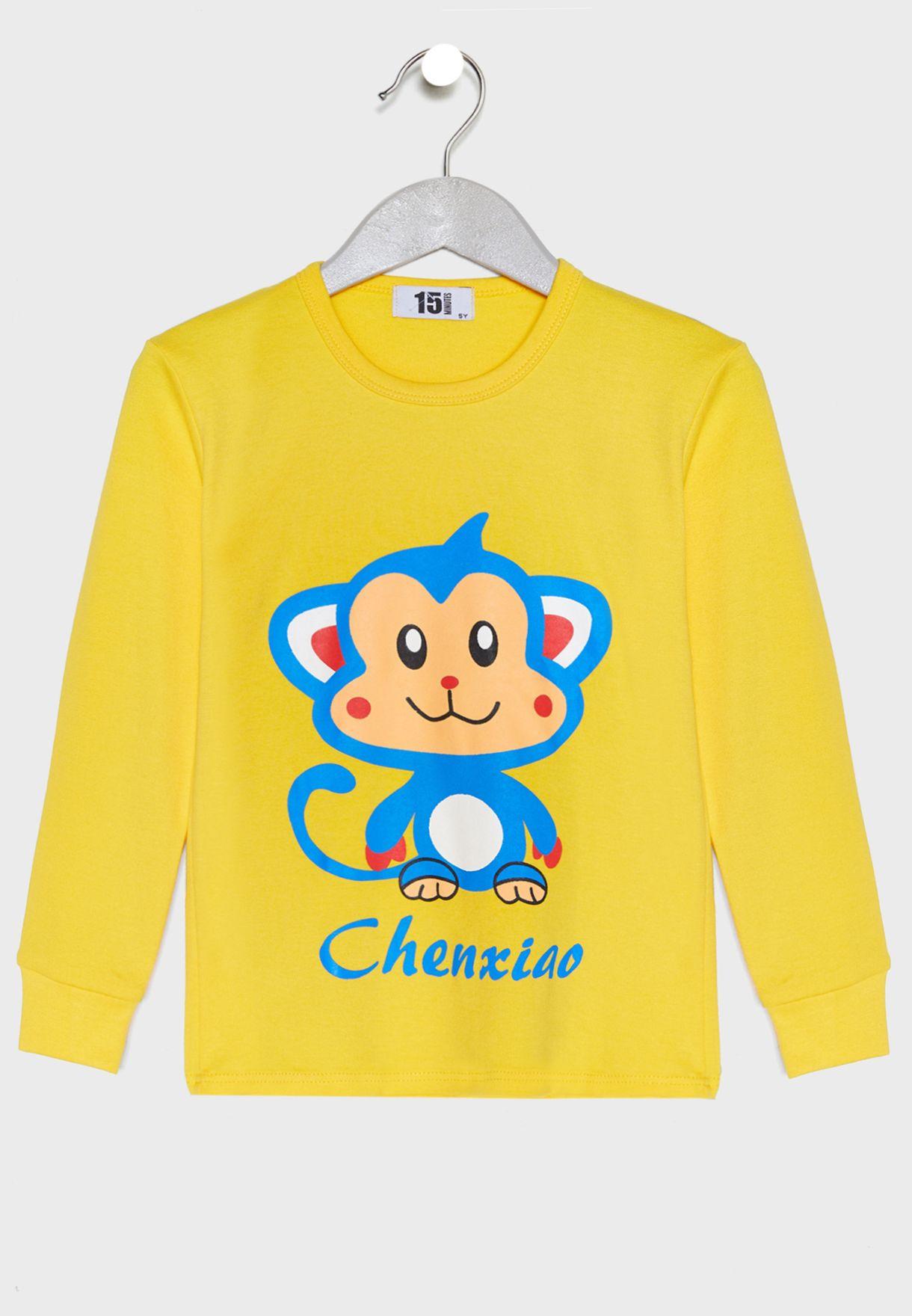 Monkey Print Pyjama Set