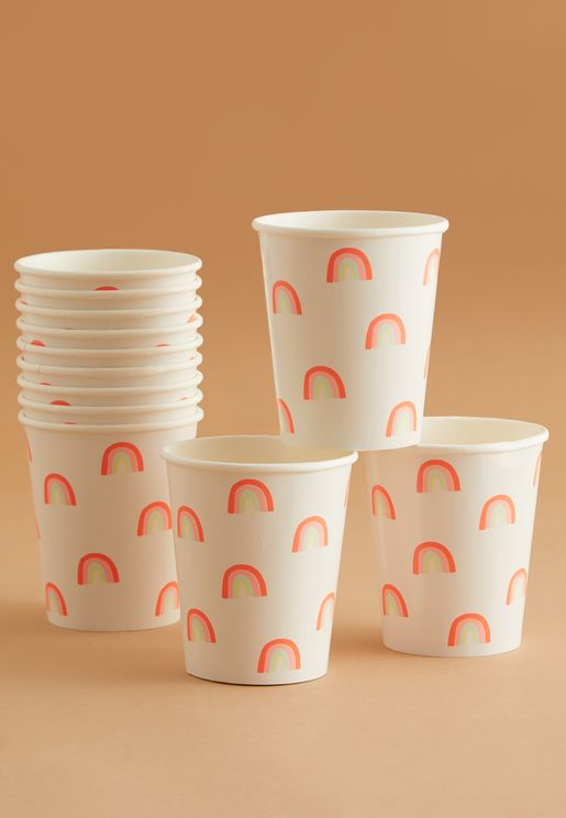 Rainbows Party Cups 12 Pack