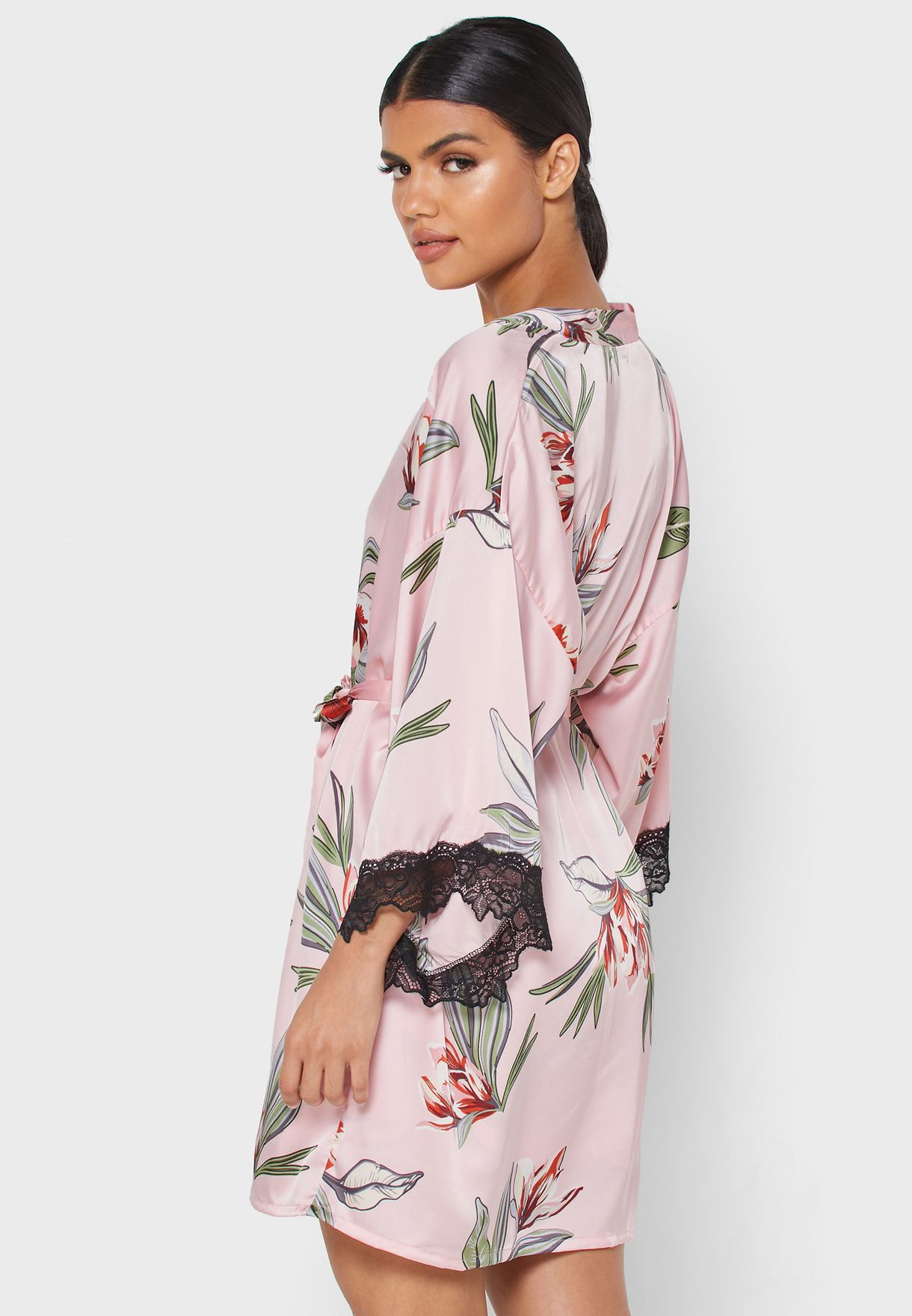 Floral Print 2 In 1 Nightdress Robe