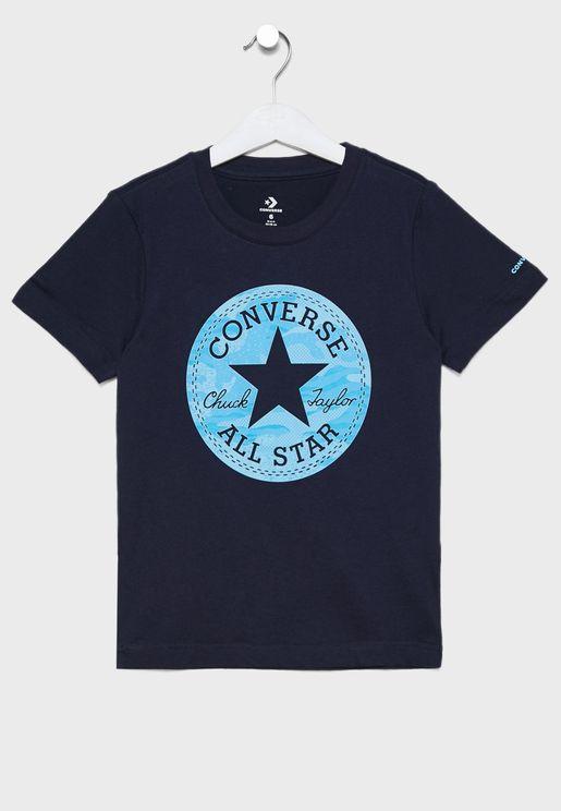 Kids Jungle Chuck Patch T-Shirt