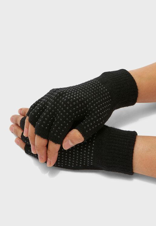 FINGERLESS GLOVE WITH GRIP