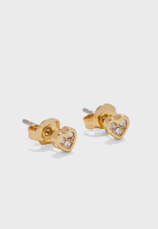 Neena Nano Heart Stud Earrings