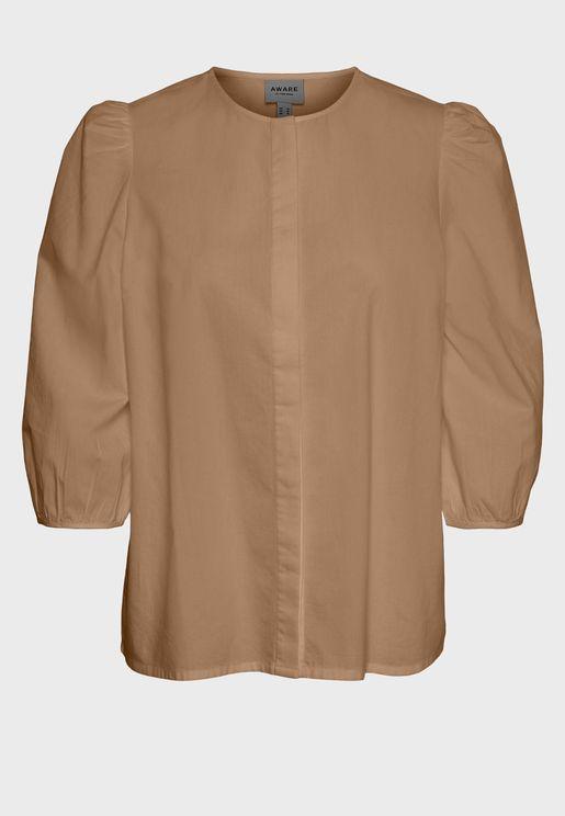 قميص باكمام منفوخة