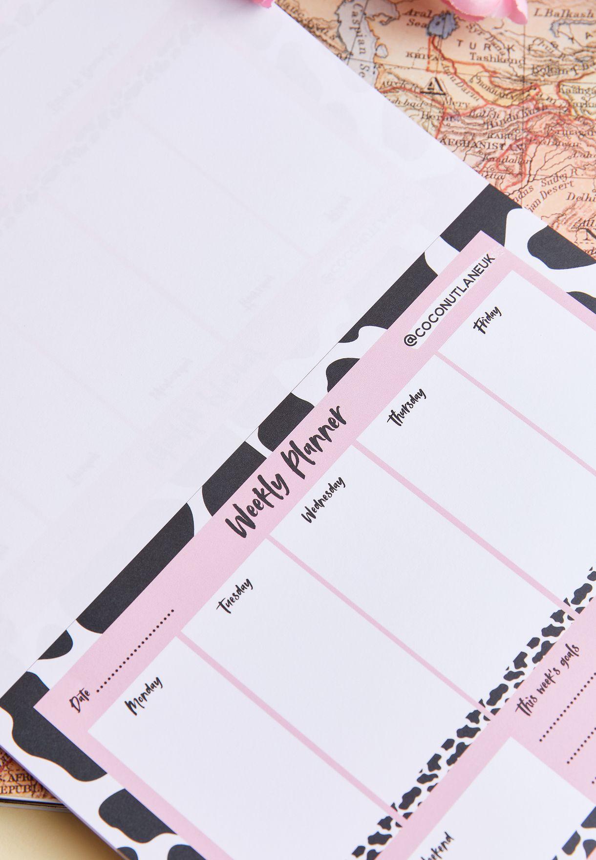 دفتر تخطيط اسبوعي A5