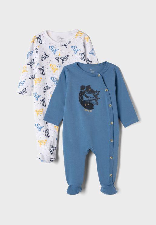 Infant 2 Pack Printed Romper