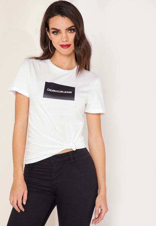 cf5e1a7b2a54 Institutional Box Logo Slim Fit T-Shirt. PREMIUM. Calvin Klein Jeans