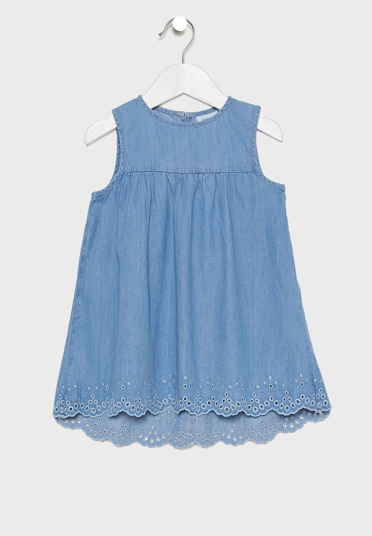 Kids Pleated Denim Dress