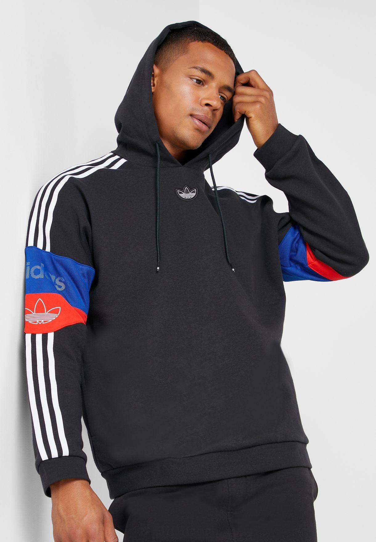 expedición tijeras dorado  Buy adidas Originals black 3 Stripe Hoodie for Men in MENA, Worldwide    ED7173
