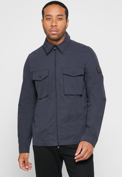 Zip Up Pocket Detail Jacket