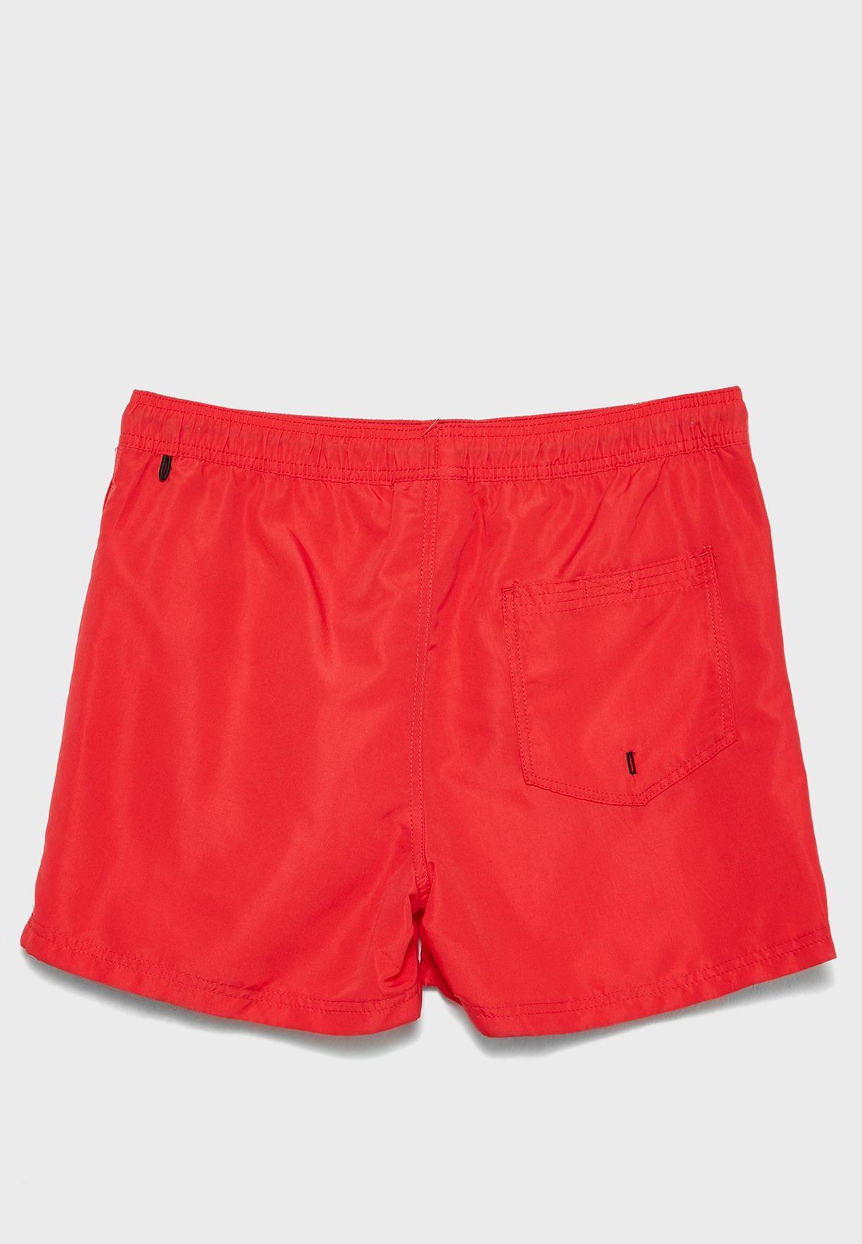 Side Stripe Logo Swim Shorts