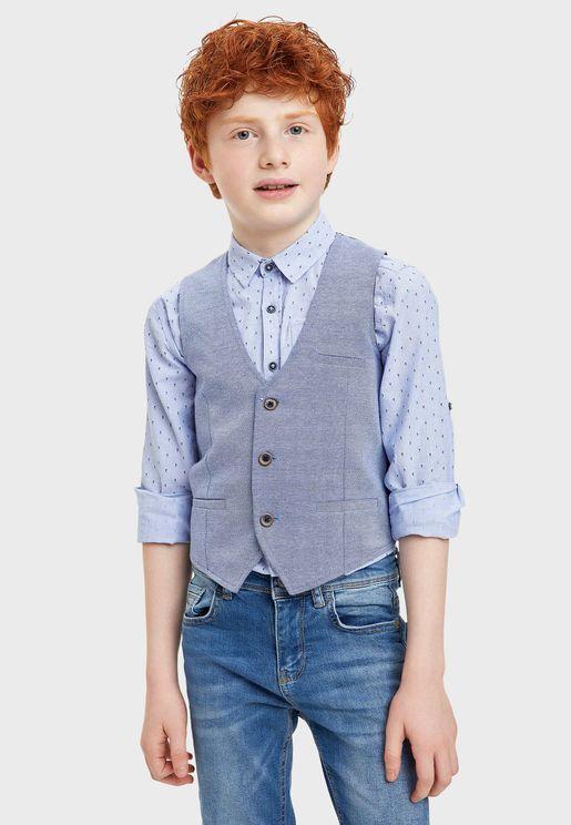 Teen Casual Waistcoat