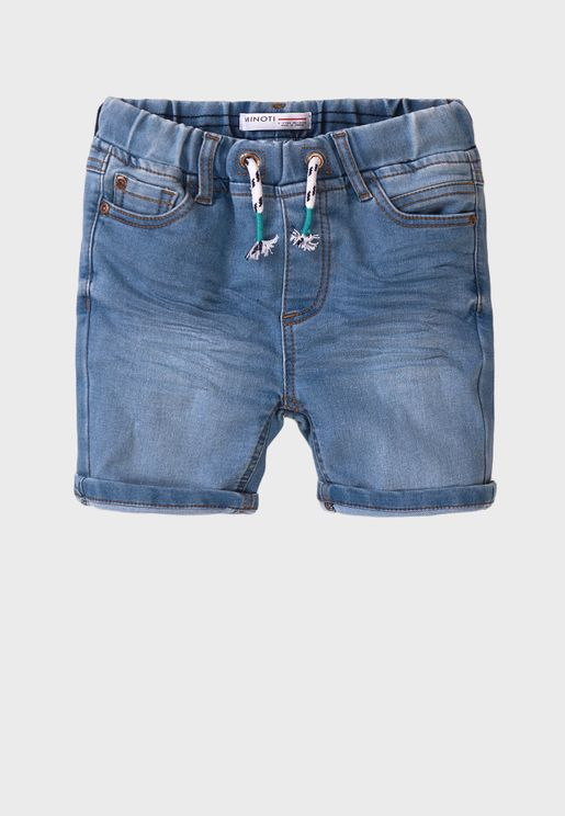 Teen Basic Knitted Denim Shorts