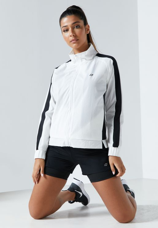 Zip Through Contrast Track Top Jacket