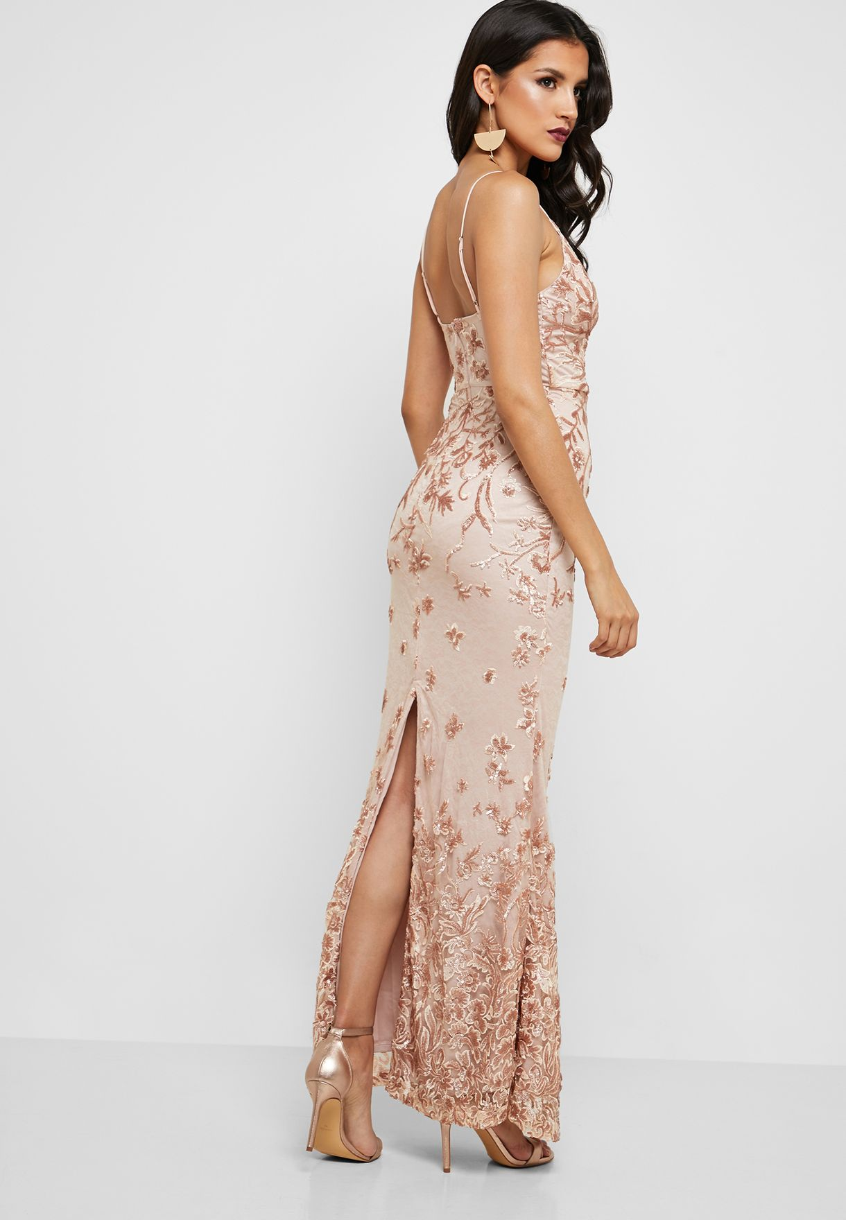 Embroidered Cami Bodycon Dress