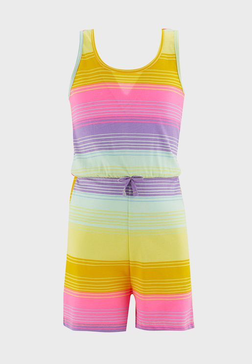 Kids Striped Playsuit