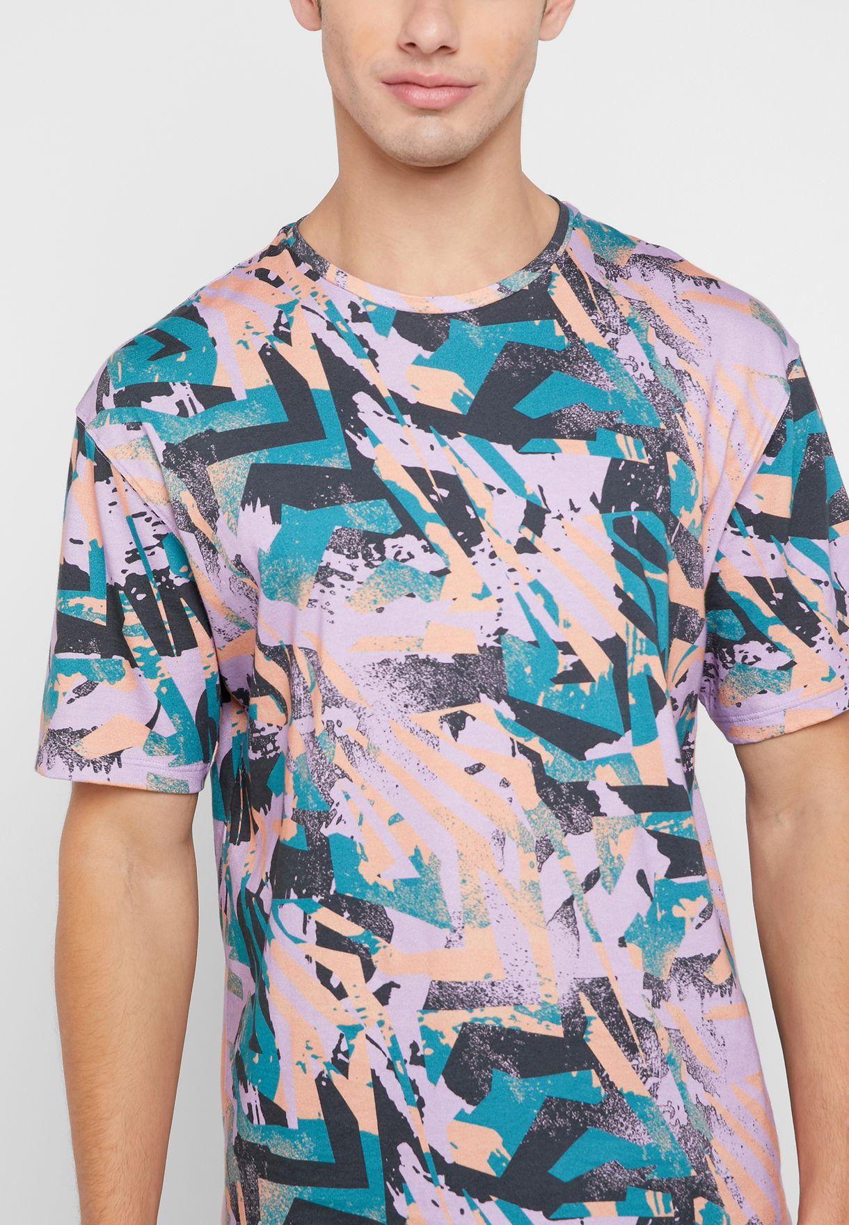 Random Painted Crew Neck T-Shirt