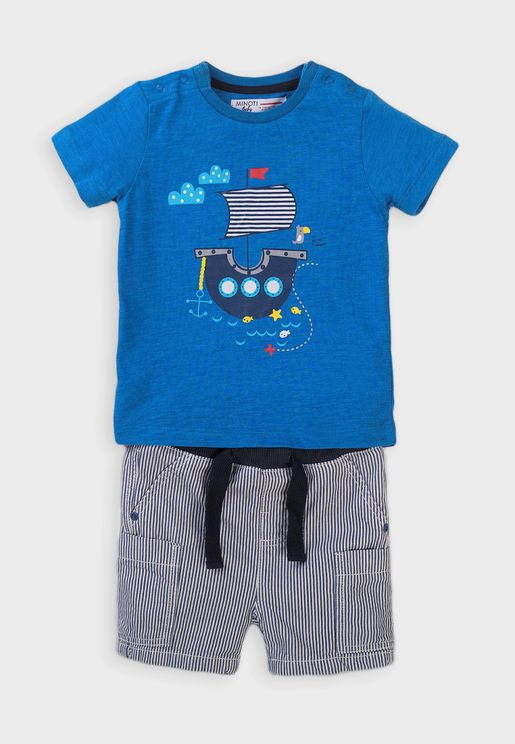 Infant Graphic T-Shirt + Shorts Set