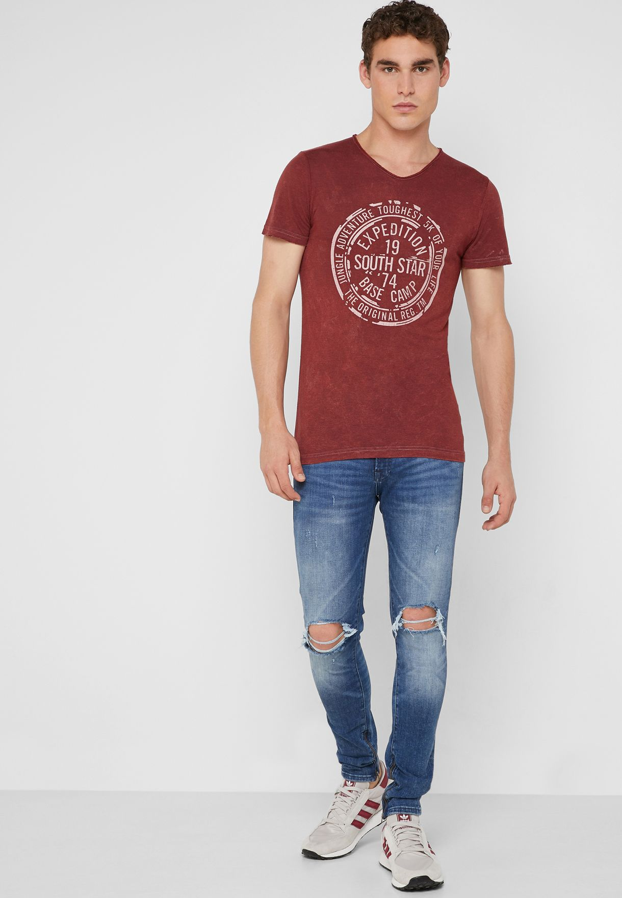 Liam Distressed Skinny Fit Jeans