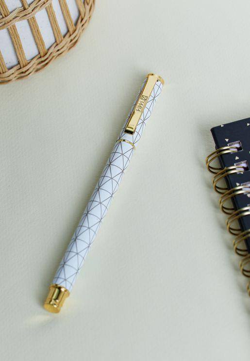 قلم معدني مطبع