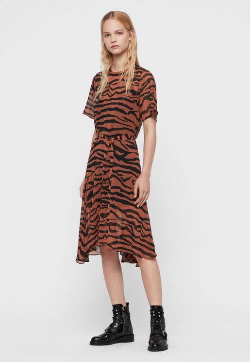 Enki Animal Print Dress