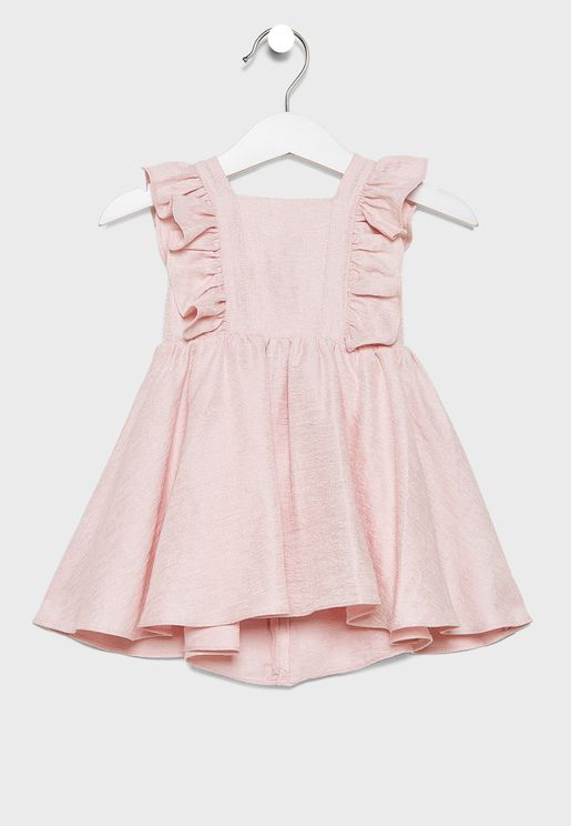 Infant Ruffle Square Neck Dress