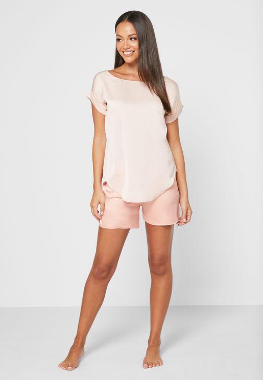 Kaftan Pyjama Top & Shorts Set