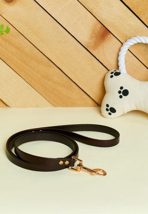 Basic Leather Dog Leash - Chocolate