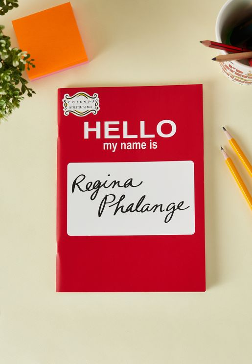 Friends Regina Phalange Notebook