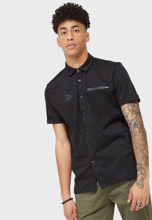 Zip Detail Pocket Regular Fit Shirt