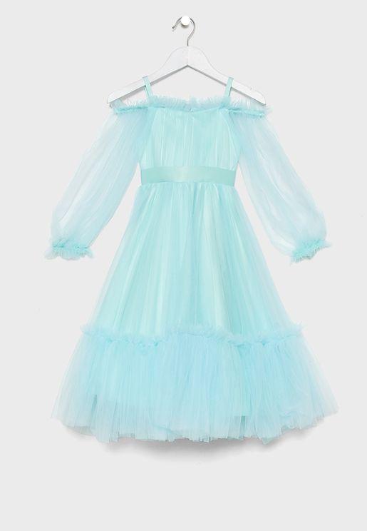 فستان لامع للاطفال