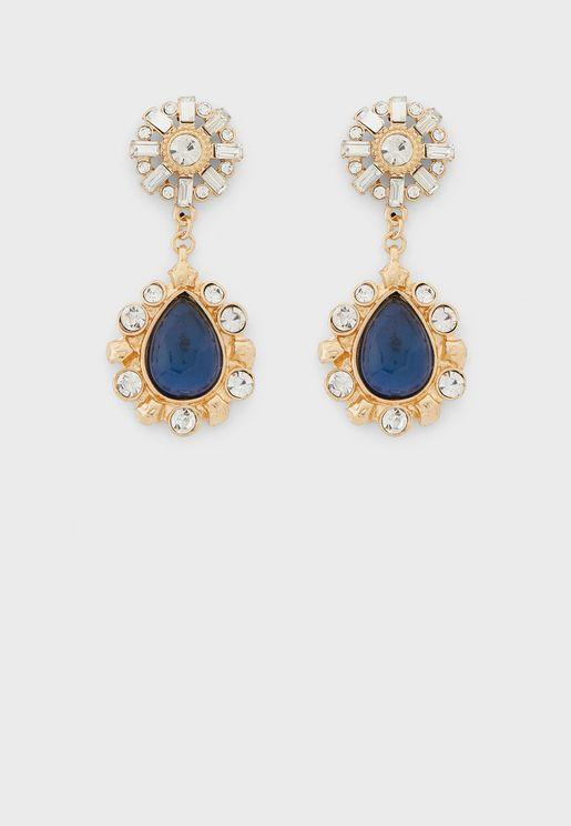 Mixed Jewel Teardrop Earrings