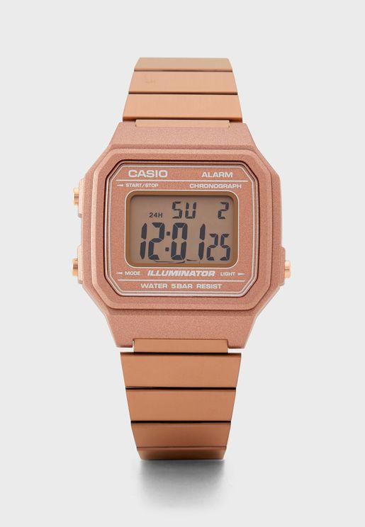 Classic Steel Strap Digital Watch