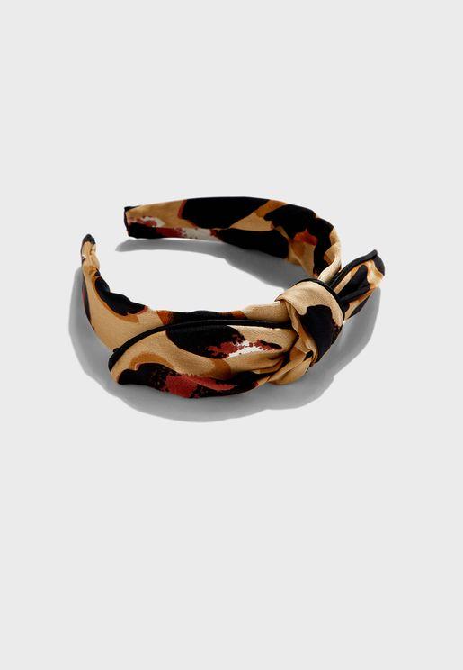 Leopard Bow Hoop Headband