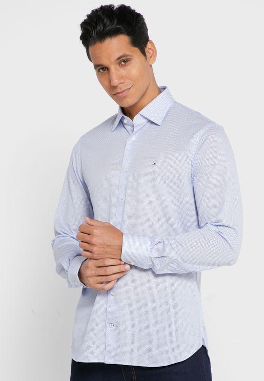 قميص سليم فت بشعار الماركة