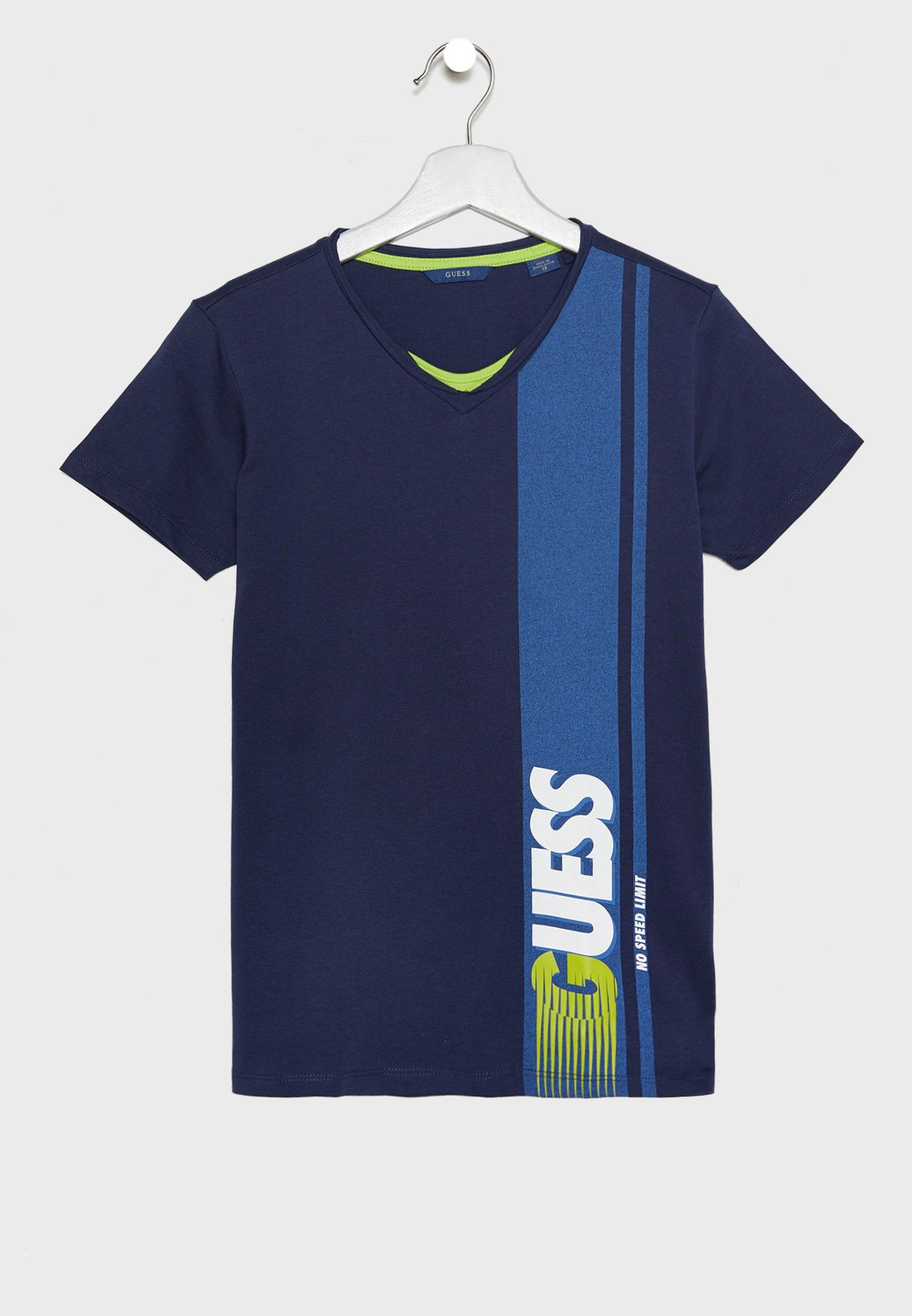 302ccc003 Shop Guess navy Kids Logo T-Shirt L91I08K82E0 for Kids in Bahrain ...