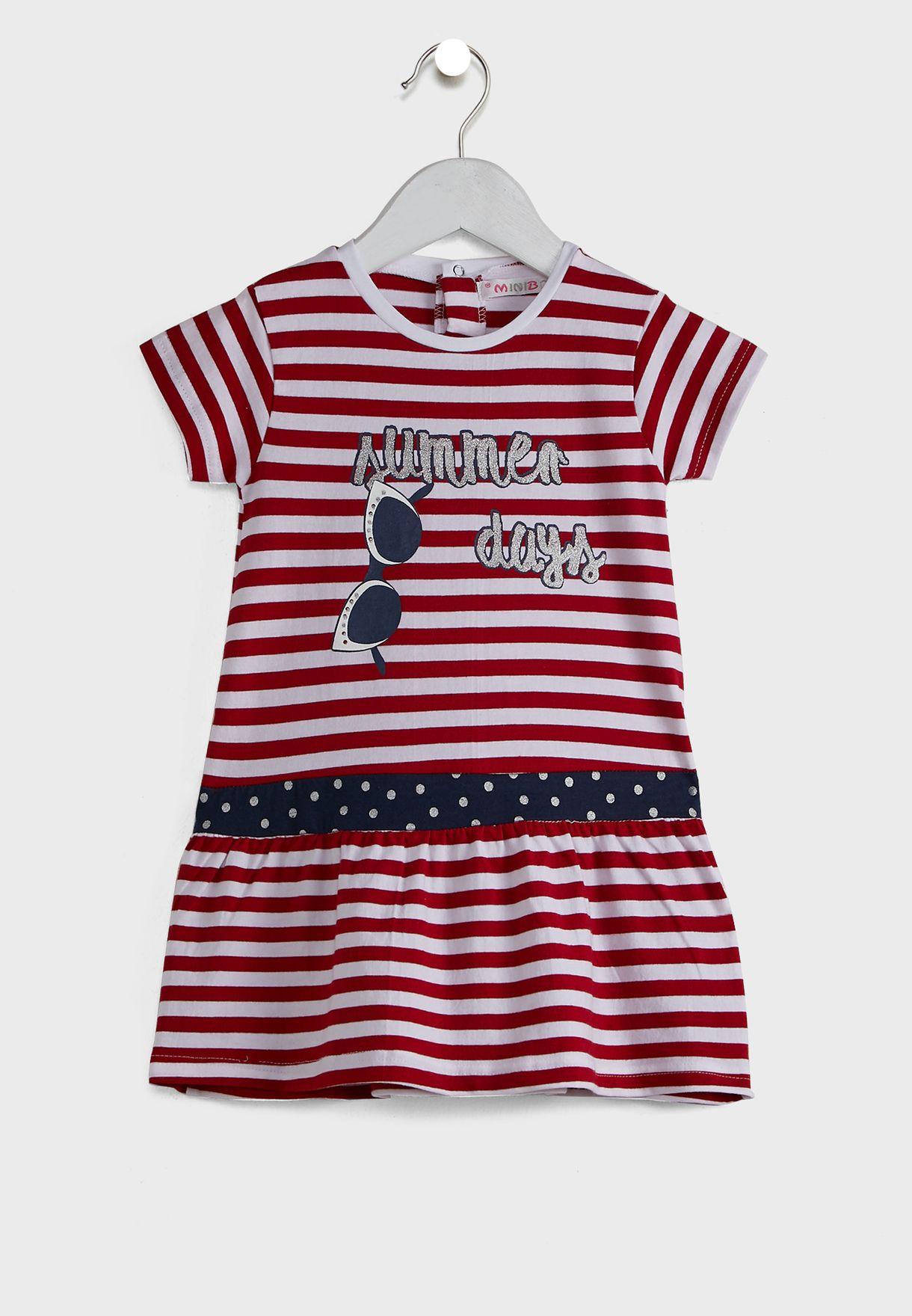 Kids Graphic Dress + Knicker Set